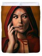 Monica Bellucci Duvet Cover