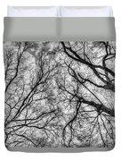 Monochrome Forest Duvet Cover
