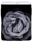 Monochrome Rose Duvet Cover