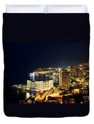 Monte Carlo Cityscape At Night Duvet Cover