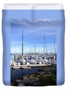 Monterey Harbor California Duvet Cover