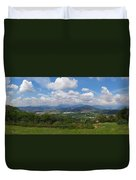 Montorfano. A View To Lake Iseo Duvet Cover