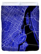 Montreal Street Map - Montreal Canada Road Map Art On Colored Ba Duvet Cover