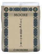 Moore Written In Ogham Duvet Cover