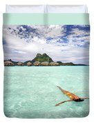Moorea Woman Floating Duvet Cover