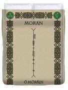 Moran Written In Ogham Duvet Cover