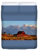 Mormon Row And The Grand Tetons  Duvet Cover