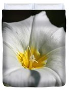Morning Glory Named White Ensign Duvet Cover