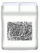Moscow: Kitai-gorod Map Duvet Cover