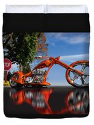 Motorcycle Reflections Duvet Cover