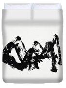 Mountain Avant-garde Calligraphy Duvet Cover
