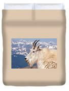 Mountain Goat Portrait On Mount Evans Duvet Cover