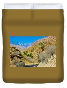 Mountain Peaks From Lower Palm Canyon Trail In Indian Canyons Near Palm Springs-california Duvet Cover