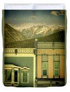 Mountain Town Duvet Cover