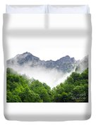 Mountain With Clouds Duvet Cover