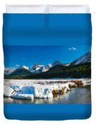 Mountains In Spring Duvet Cover