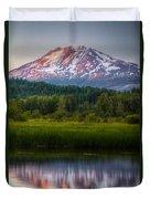 Mt Adams Sunset Duvet Cover