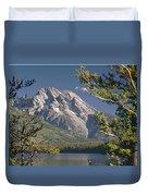 Mt. Moran And Jenny Lake Duvet Cover