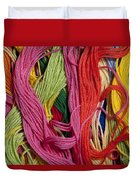 Multicolored Embroidery Thread Mixed Up  Duvet Cover