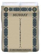 Murray Written In Ogham Duvet Cover