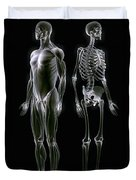 Muscles And Bones Duvet Cover