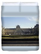 Musee Du Louvre In Paris France Duvet Cover
