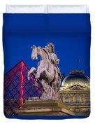 Musee Du Louvre Statue Duvet Cover