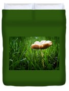 Mushroom Growing Wild On Lawn Duvet Cover