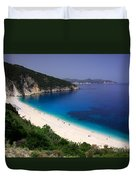 Myrtos Beach Duvet Cover