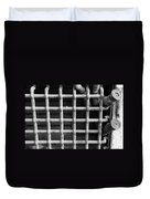 N Y C Grates In Black And White Duvet Cover