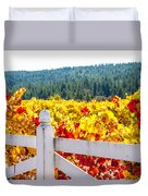 Napa Fall Grapes Duvet Cover