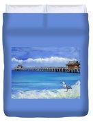 Naples Pier Naples Florida Duvet Cover