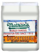 Nathan's Sign Duvet Cover