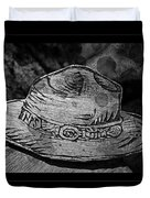 National Park Service Ranger Hat Black And White Duvet Cover