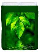 Natural Leaves Background Duvet Cover
