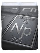 Neptunium Chemical Element Duvet Cover
