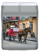 New Orleans - Carriage Ride Duvet Cover