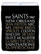 New Orleans Saints Duvet Cover