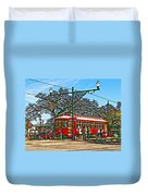 New Orleans Streetcar Painted Duvet Cover