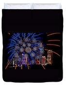 Niagara Fireworks Duvet Cover