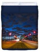 Night Lights Duvet Cover by Debra and Dave Vanderlaan