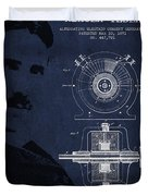 Nikola Tesla Patent From 1891 Duvet Cover