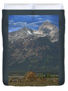 North Moulton Barn Grand Tetons Duvet Cover
