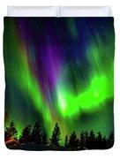 Northern Lights, Lapland, Sweden Duvet Cover