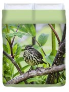 Northern Water Thrush Duvet Cover