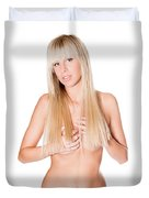 Nude Blonde Duvet Cover