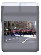 Nyc Fire Department Honoring The 343 Lost Comrades Of 911 With 343 American Flags Duvet Cover