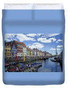 Nyhavn - Copenhagen Denmark Duvet Cover