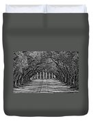Oak Alley Bw Duvet Cover