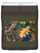 Oak Leaves In A Puddle Duvet Cover